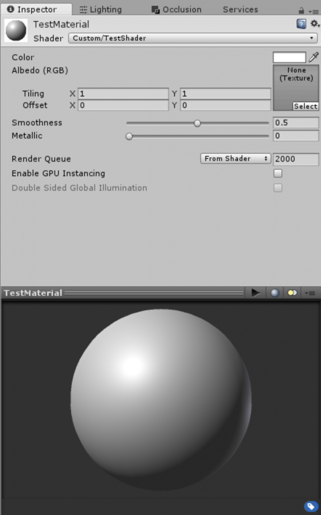Some properties are already created for you in the default shader template.