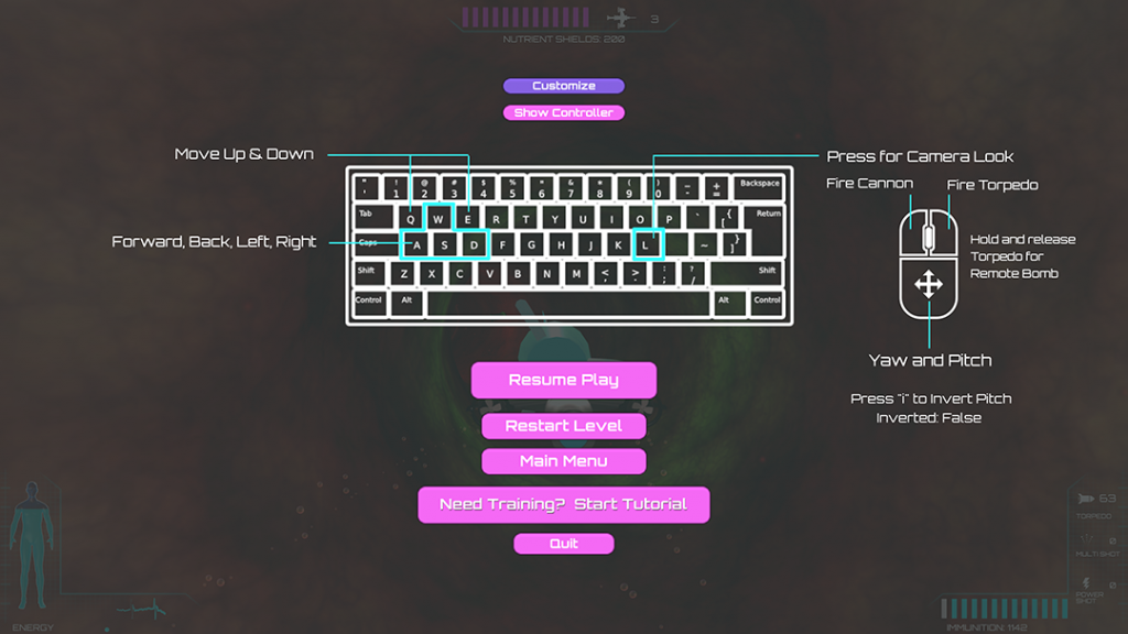 Updated keyboard controls now support mouse-based steering.